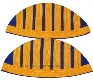 Schwalbennester, blau/gelb, mit Umbug und Haken – Bild 1