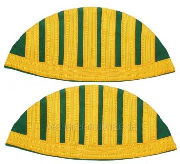 Schwalbennester, grün/gelb, mit Umbug und Haken – Bild 1