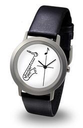 Armbanduhr Motiv Saxofon