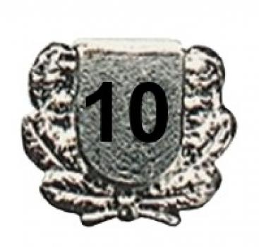 Jubilar-Abzeichen Zahl nach Wunsch versilbert lange Nadel