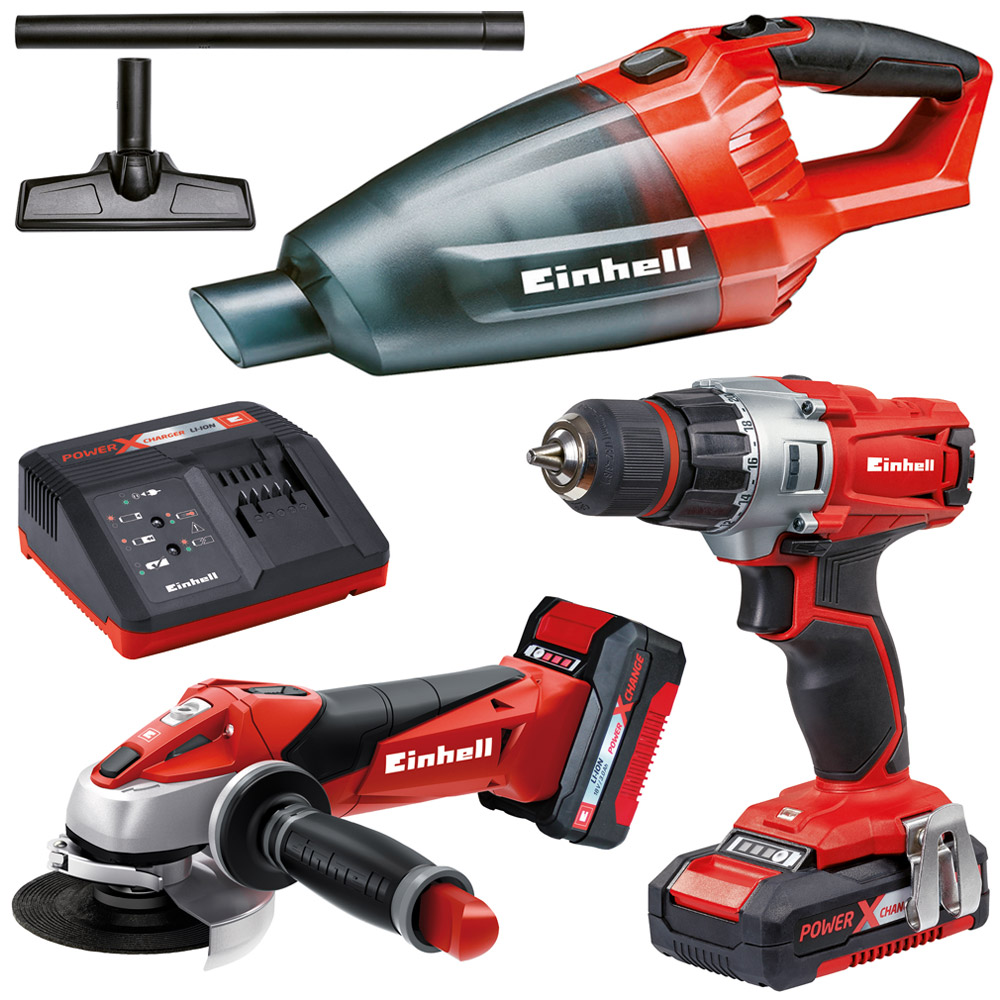 einhell 18volt power x change werkzeug akkuschrauber winkelschleifer staubsauger ebay. Black Bedroom Furniture Sets. Home Design Ideas