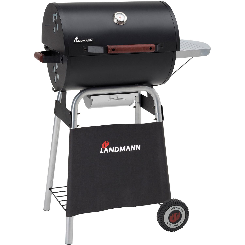 landmann 6 pers holzkohle garten grill grillwagen deckel warmhalterost neu ebay. Black Bedroom Furniture Sets. Home Design Ideas