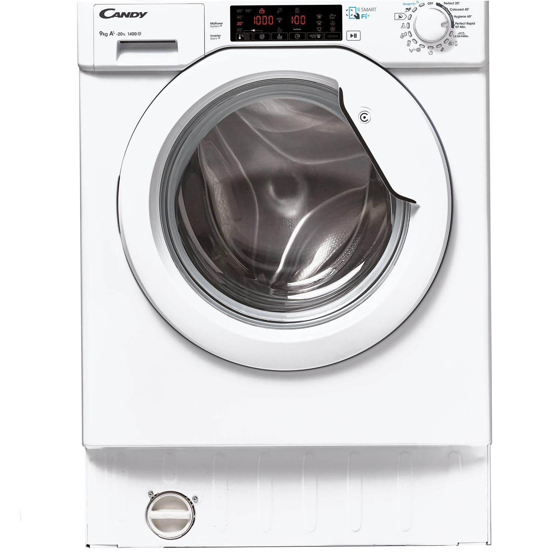 candy cbwms 914 twh s smart einbau waschmaschine mit nfc 9kg 1400u min vollintegrierbar eek. Black Bedroom Furniture Sets. Home Design Ideas