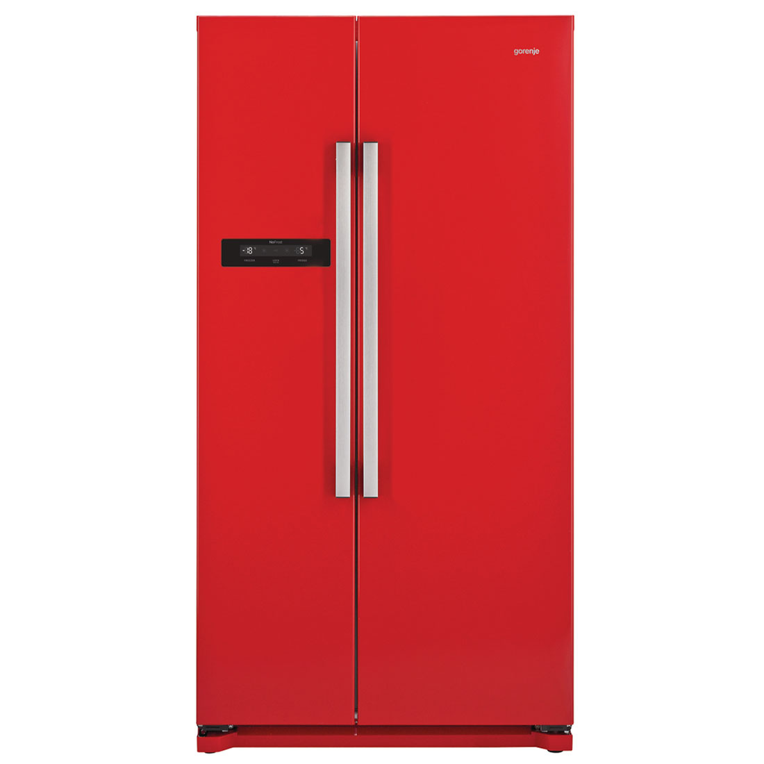 gorenje a inverter nofrost side by side k hl gefrierkombination feuer rot neu ebay. Black Bedroom Furniture Sets. Home Design Ideas