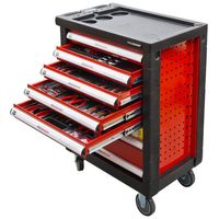 Holzmann WW790W Werkstattwagen inkl. hochwertigem Chrom-Vanadium Werkzeug, 7 Schubladen, abschließbar – Bild 1