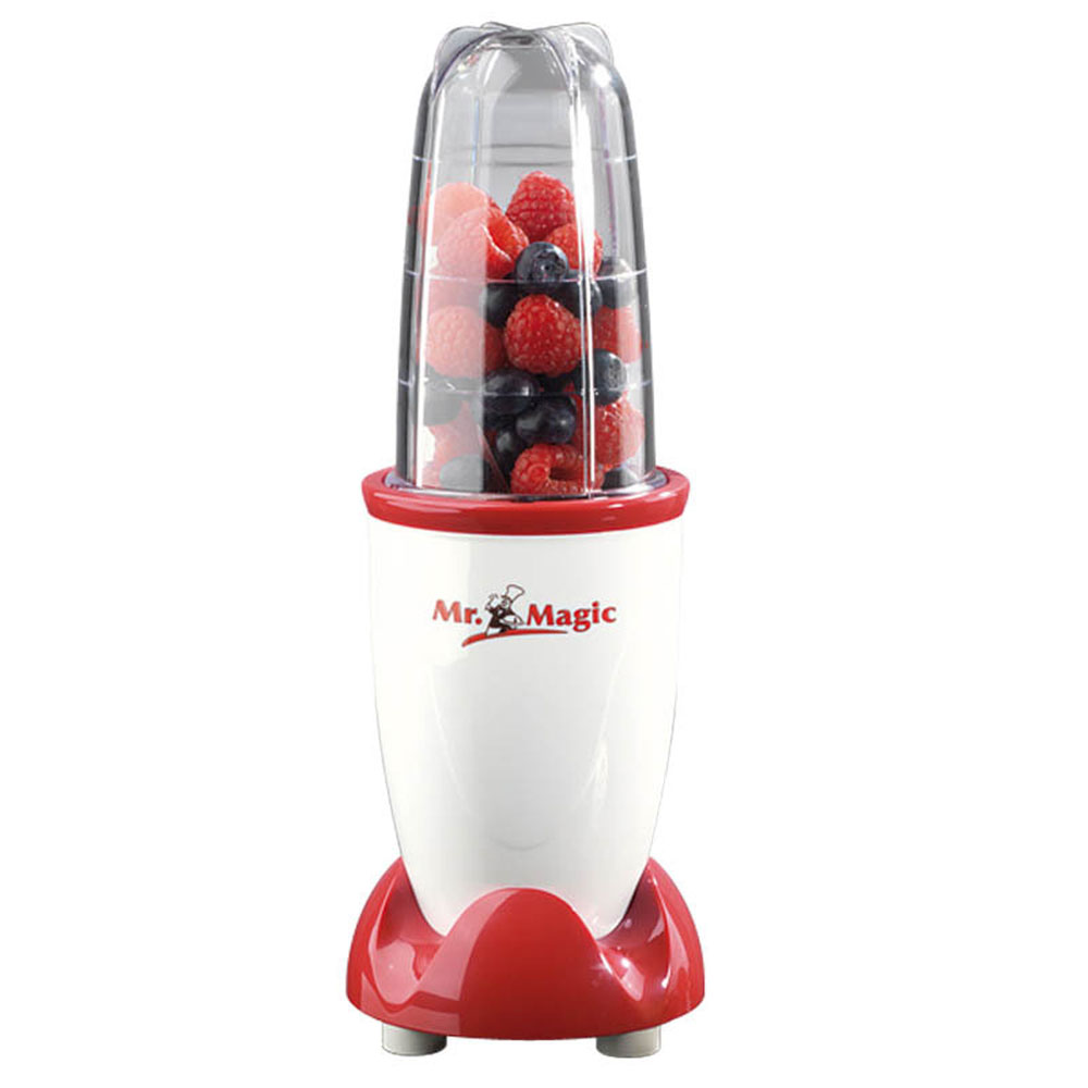 GOURMETmaxx Mr. Magic Standmixer, 4-tlg., rot/weiĂź, 250 Watt, Smoothie-Maker, KĂĽchenmaschine