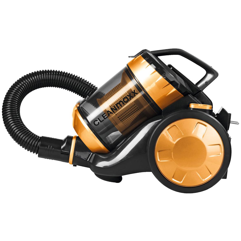 CLEANmaxx Zyklon-Staubsauger, HEPA-Filter, beutellos, 700W, goldfarben 08302