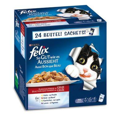 Felix Portionsbeutel Multipack So gut wie es aussieht Fleisch 24x100g