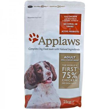 Applaws Hunde Trockenfutter Adult Small & Medium Breed mit Huhn 2 kg