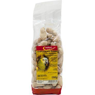 zookauf Vogel Futter Erdnüsse mit Schale für Papageien 150 g