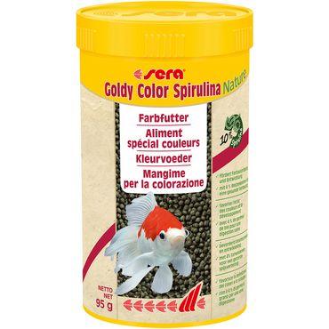 sera Goldy Color Spirulina 250ml Goldfischfutter