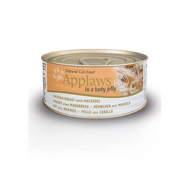 Applaws Katzen Nassfutter in Dose Hühnchen und Makrele in Gelee 70 g