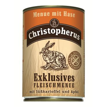 Christopherus Dog Dose Menue mit Hase 400g