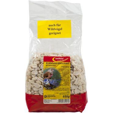 zookauf Vogel Futter Erdnüsse blanchiert für alle Wildvögel 650 g