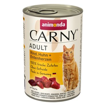 Animonda Cat Dose Carny Adult Rind & Huhn & Entenherzen 6x400g