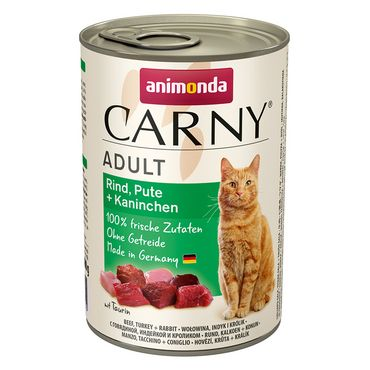 Animonda Cat Dose Carny Adult Rind & Pute & Kaninchen 6x400g