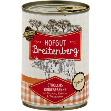 Hofgut Breitenberg Junior Strolchs Rinderpfanne mit Zucchini, Karotten & Preiselbeeren 400g – Bild 1