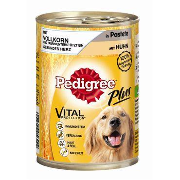 Pedigree Dose Adult Plus mit Vollkorn - Huhn in Pastete 400g