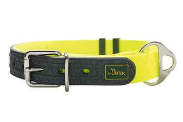 Hunter Hundehalsband Convenience neongelb Vario Plus 60 – Bild 1