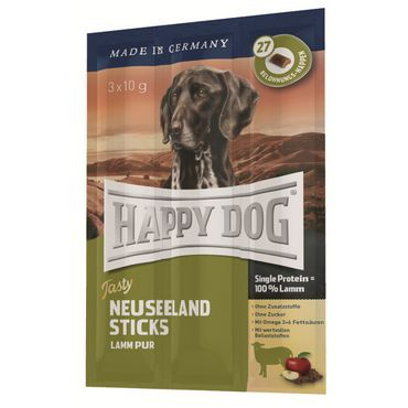 Happy Dog Tasty Neuseeland Sticks (Kaustange mit Lamm) 30g
