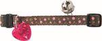 Hunter Katzenhalsband Dots mit Sicherheitsverschluß und Glocke 001