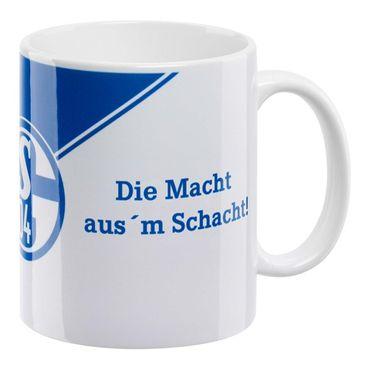 """FC Schalke 04 Kaffeebecher """"Die Macht aus`m Schacht"""""""