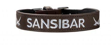 Hunter Hundehalsband Sansibar 37 braun  (Halsumfang 30-34,5 cm)