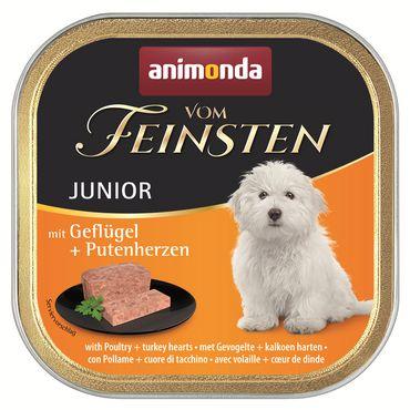 Animonda Dog Vom Feinsten Junior Geflügel & Putenherz 150g – Bild 2