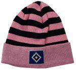 HSV Mädchen Strickmütze rosa/schwarz Gr. 57 001