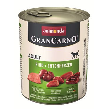 Animonda Dog Dose GranCarno Adult Rind & Entenherz 800g