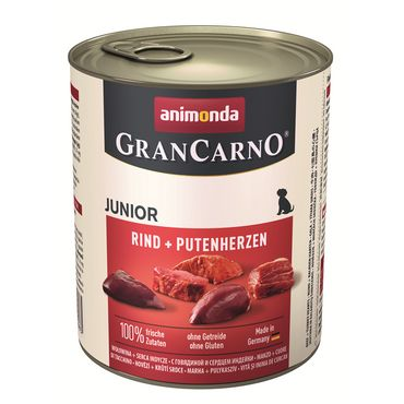 Animonda Dog Dose GranCarno Junior Rind & Putenherzen 800g – Bild 1