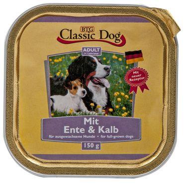 Classic Dog Schale mit Ente & Kalb 150g – Bild 1