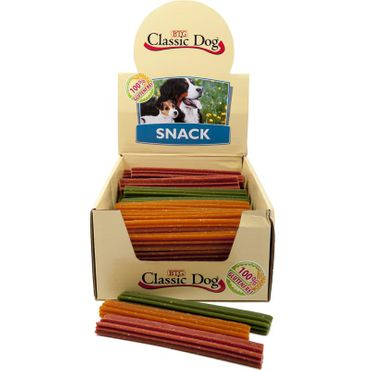 Classic Dog Snack Kaustange glutenfrei Medium 17cm in orange, rot oder grün