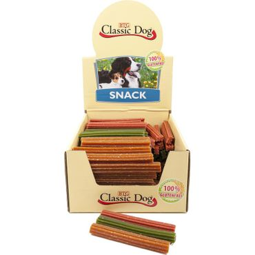 Classic Dog Snack Kaustange glutenfrei Mini 12cm in orange, rot oder grün
