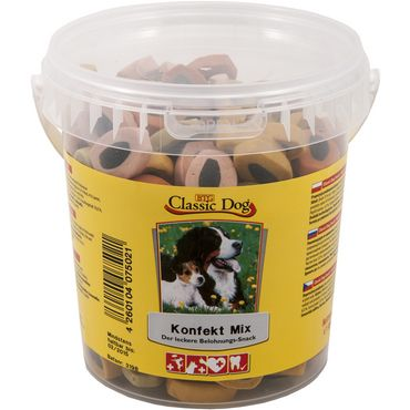 Classic Dog Snack Konfekt Mix Eimer 500g