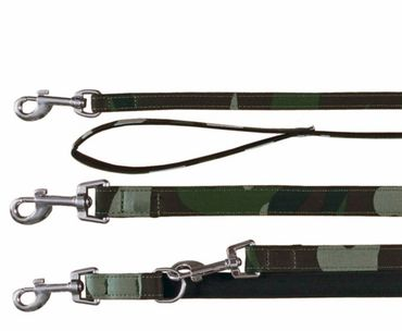 Hundeleine, Military (XS-S) 1,00 m+ Hundehalsband (S) 27-33cm/13mm – Bild 1