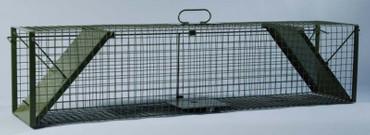 Lebendfangfalle aus starkem Drahtkastengeflecht im Jagdartikelshop Bandemer kaufen