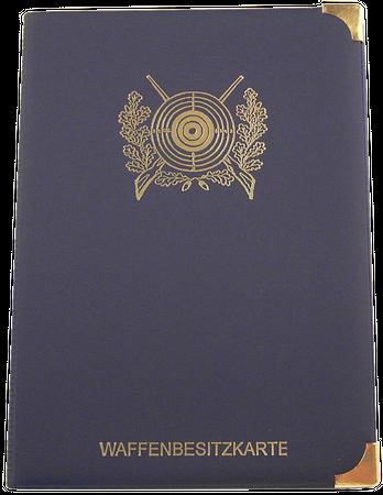 Etui - Dokumentenmappe mit 6 Fächer in blau Motiv Schützenscheibe oder Motiv Sportschützen im Jagdartikelshop Bandemer kaufen
