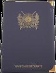 Etui - Dokumentenmappe mit 6 Fächer in blau Motiv Schützenscheibe oder Motiv Sportschützen