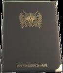 Etui - Dokumentenmappe in schwarz mit Motiv Schützenscheibe und 14 Fächer