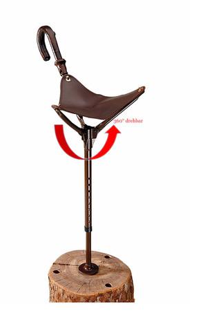 Drehbarer und höhenverstellbarer Sitzstock im Jagdartikelshop Bandemer kaufen