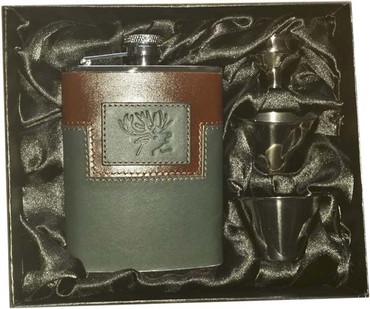 Flachmann Edelstahlflasche in Geschenkbox im Jagdartikelshop Bandemer kaufen