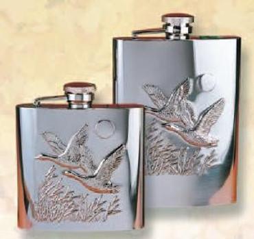 Edelstahlflasche mit Entenprägung im Jagdartikelshop Bandemer kaufen