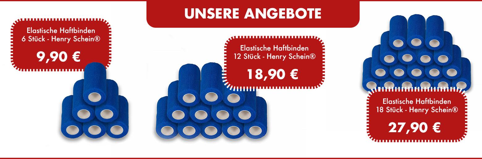Elastische Haftbinden 6-18 Stück - Henry Schein®