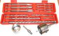 14 Stück Hammerbohrer Steinbohrer Meissel Bohrkrone SDSplus Set bis 20x450 mm