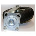 Rolle Rad Lenkrolle Bollerwagenrad 260 mm 100 kg Gummi luftbefüllt Stahlfelge Bild 3
