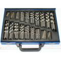 170 Stück Bohrer Stahlbohrer Metallbohrer Eisen HSS 1 bis 10 mm im Blech Koffer