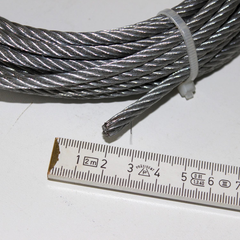 Seil Drahtseil für Seilwinde 5 mm x 10 m Zugkraft 500 kg mit S Haken ...