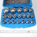 19 Stück Nuss Nüsse Stecknuss Steckschlüssel Einsatz Multilock Gear-Lock 8 b. 32 005