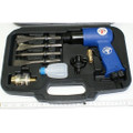 Druckluft-Meißelhammer Set Hammer und 4 Meißel im Koffer